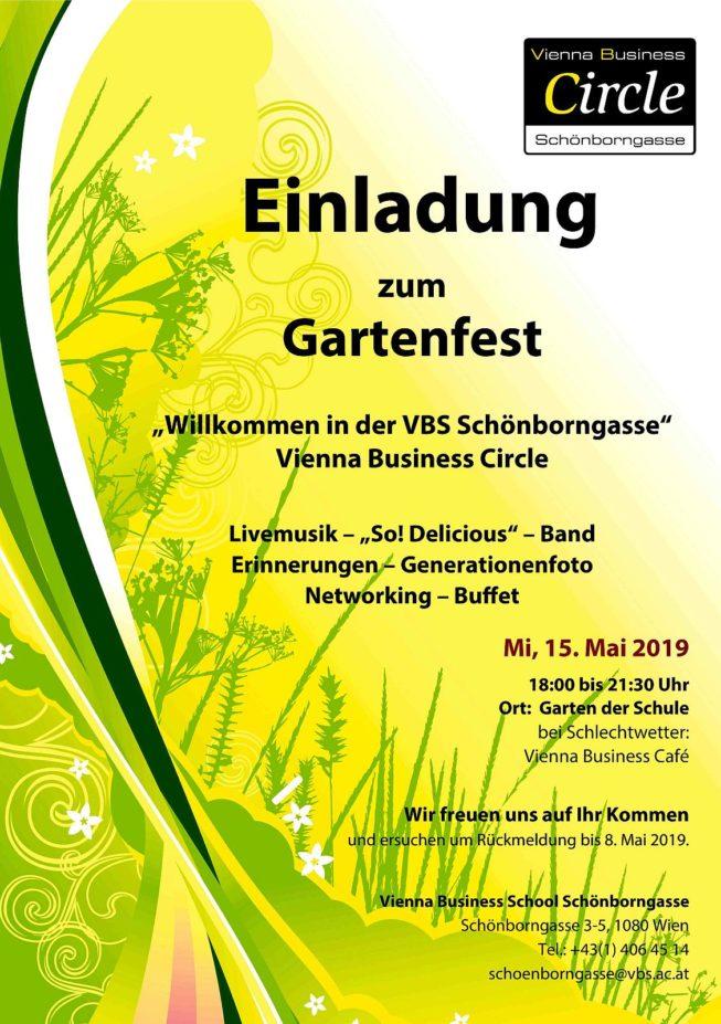 Einladung Gartenfest 2019