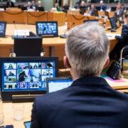 Videokonferenz mit Brüssel